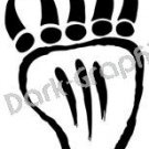 Bear Paw Native American Ancient Logo Symbol (Decal - Sticker)