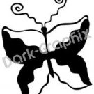 Butterfly Native American Ancient Logo Symbol (Decal - Sticker)