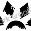 Prowler Native American Ancient Logo Symbol (Decal - Sticker)