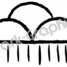 Rain Cloud Native American Ancient Logo Symbol (Decal - Sticker)
