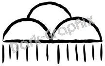 Rain Cloud Native American Ancient Logo Symbol (Decal - Sticker)
