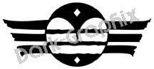 Signal Message Native American Ancient Logo Symbol (Decal - Sticker)