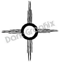 Sun Native American Ancient Logo Symbol (Decal - Sticker)