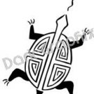 Turtle Native American Ancient Logo Symbol (Decal - Sticker)