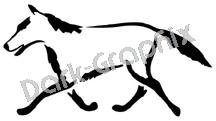 Wolf Native American Ancient Logo Symbol (Decal - Sticker)
