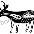 Deer Southwest Ancient Logo Symbol (Decal - Sticker)