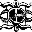 Silver Buckle Southwest Ancient Logo Symbol (Decal - Sticker)