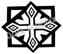 Southwest 8 Ancient Logo Symbol (Decal - Sticker)