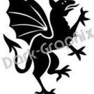 Dragon 1 Fantasy Logo Symbol (Decal - Sticker)