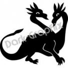 Dragon 5 Fantasy Logo Symbol (Decal - Sticker)