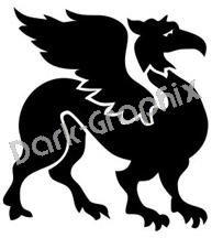 Dragon 8 Fantasy Logo Symbol (Decal - Sticker)