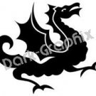 Dragon 9 Fantasy Logo Symbol (Decal - Sticker)