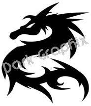 Dragon 10 Fantasy Logo Symbol (Decal - Sticker)