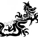 Dragon 12 Fantasy Logo Symbol (Decal - Sticker)