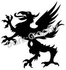 Dragon 13 Fantasy Logo Symbol (Decal - Sticker)