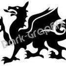 Dragon 14 Fantasy Logo Symbol (Decal - Sticker)