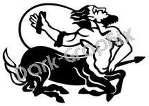 Centaur Mythical Fantasy Logo Symbol (Decal - Sticker)