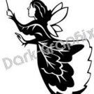 Fairy 2 Mythical Fantasy Logo Symbol (Decal - Sticker)