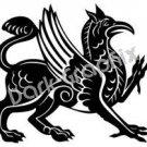 Griffin Mythical Fantasy Logo Symbol (Decal - Sticker)