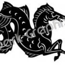 Hippocampos Mythical Fantasy Logo Symbol (Decal - Sticker)