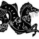 Hippocampos Mythical Fantasy Logo Symbol (Decal - Sticker)