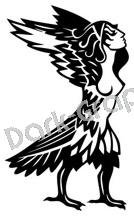 Siren Mythical Fantasy Logo Symbol (Decal - Sticker)