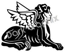 Sphinx Mythical Fantasy Logo Symbol (Decal - Sticker)