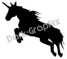 Unicorn 1 Fantasy Logo Symbol (Decal - Sticker)
