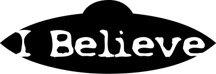 I Believe Alien Fantasy Logo Symbol (Decal - Sticker)