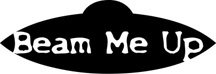 Beam Me Up Alien Fantasy Logo Symbol (Decal - Sticker)