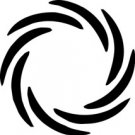 Crop Circle 6 Alien Fantasy Logo Symbol (Decal - Sticker)