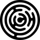 Crop Circle 7 Alien Fantasy Logo Symbol (Decal - Sticker)