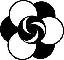 Crop Circle 8 Alien Fantasy Logo Symbol (Decal - Sticker)
