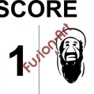 Bin Laden Score Style 2 (Decal - Sticker)
