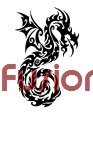 Tribal Dragon Style 32 (Decal - Sticker)