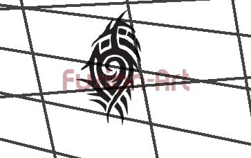 Tribal Tattoo Design Element Style 25 (Decal - Sticker)