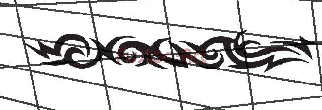 Tribal Tattoo Design Element Style 29 (Decal - Sticker)