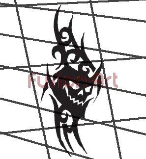 Tribal Tattoo Design Element Style 40 (Decal - Sticker)
