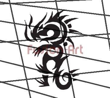 Tribal Tattoo Design Element Style 41 (Decal - Sticker)