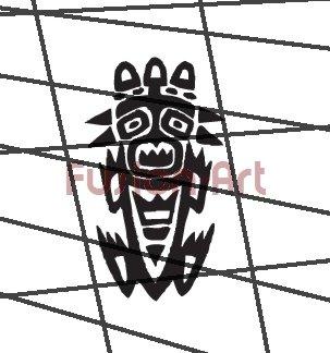 Tribal Tattoo Design Element Style 42 (Decal - Sticker)