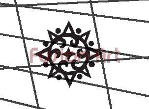 Tribal Tattoo Design Element Style 48 (Decal - Sticker)