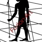 Egyptian God Asar-Hap Silhouette 2 (Decal - Sticker)