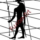 Egyptian God Nehebakau Silhouette (Decal - Sticker)