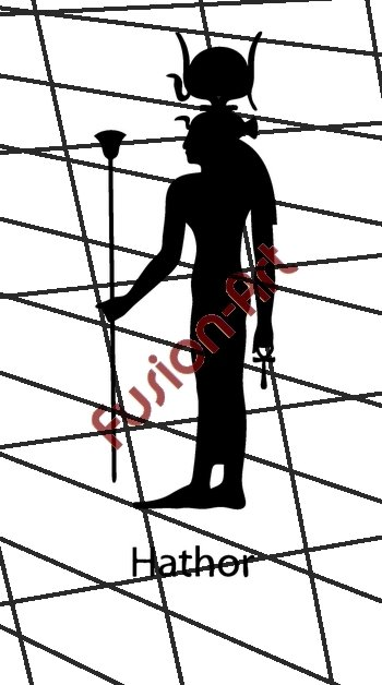 Egyptian God Hather Silhouette (Decal - Sticker)