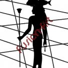 Egyptian God Hat-Mehit Silhouette (Decal - Sticker)