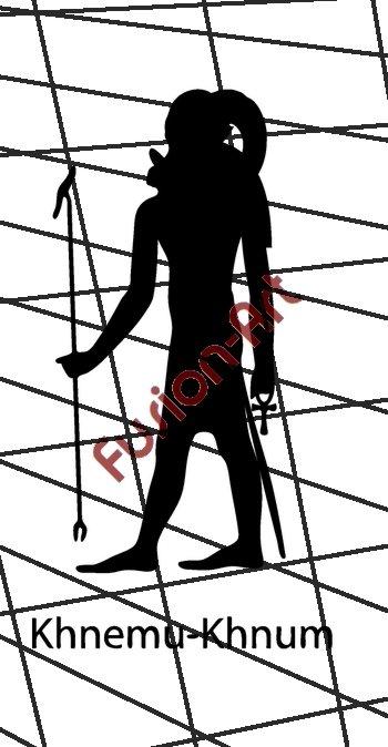 Egyptian God Khnemu Silhouette (Decal - Sticker)