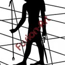 Egyptian God Khnemu Silhouette (Decal - Sticker)