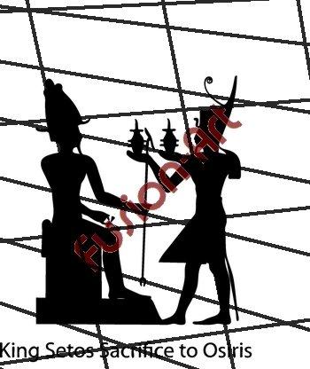 Egyptian God King Setos Silhouette (Decal - Sticker)