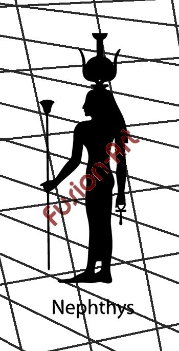Egyptian God Nephthys Silhouette (Decal - Sticker)