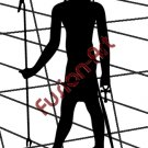 Egyptian God Seb Silhouette (Decal - Sticker)